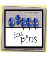 Just Dreidels Just Pins JP140 set 5 for pincushions JABC Just Another Bu... - $13.05