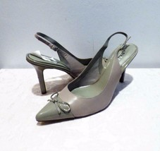 98.00 Lauren Ralph Lauren Sienna Slingback Pumps Stone color, US 10 B - $23.76