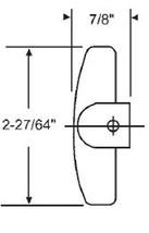"""STB Window Operator Handle, T-Crank, Dark Bronze, 7/16"""" Spline Size - $8.86"""