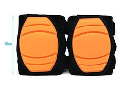 1 Pairs Soft Silicone Crawling Baby Knee Pads Protector Kids Knee Pad Orange