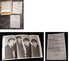 The Beatles Fan Lot Art  Stat Sheets  & Beatles Fan Club Sheet1964 - $34.99
