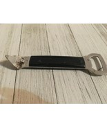 Vintage Foley Can Bottle Opener stainless steel black handle - $8.98
