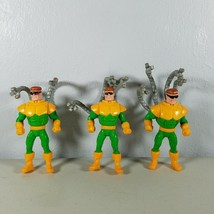 "1995 Marvel Spider Man Dr Octopus Doc Ock Action Figure 4"" Set of 3 - $13.65"