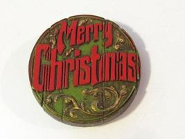 Rare vintage Merry Christmas Lucite brooch - $12.00