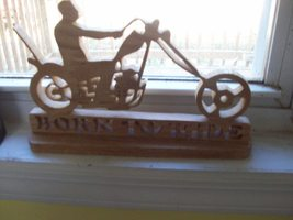 Born to ride wooden sign display - $35.00