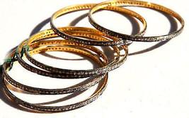 Handmade Victorian Repro 16.50Ctw Rose Cut Diamond Silver 6pcs Bangle bT... - $699.00
