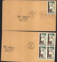 John Muir Conservationist first day covers single & Block of 4 April 29, 1964 - $2.99