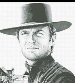 Hollywood Greats Clint Eastwood Law and Order cross stitch chart Mystic Stitch