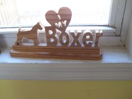 Wooden I love my Boxer sign display - $20.00
