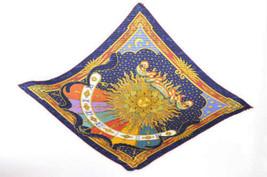 "HERMES Pleated Scarf ""CARPE DIEM"" 100% Silk Red 90cm 2790 - $170.00"