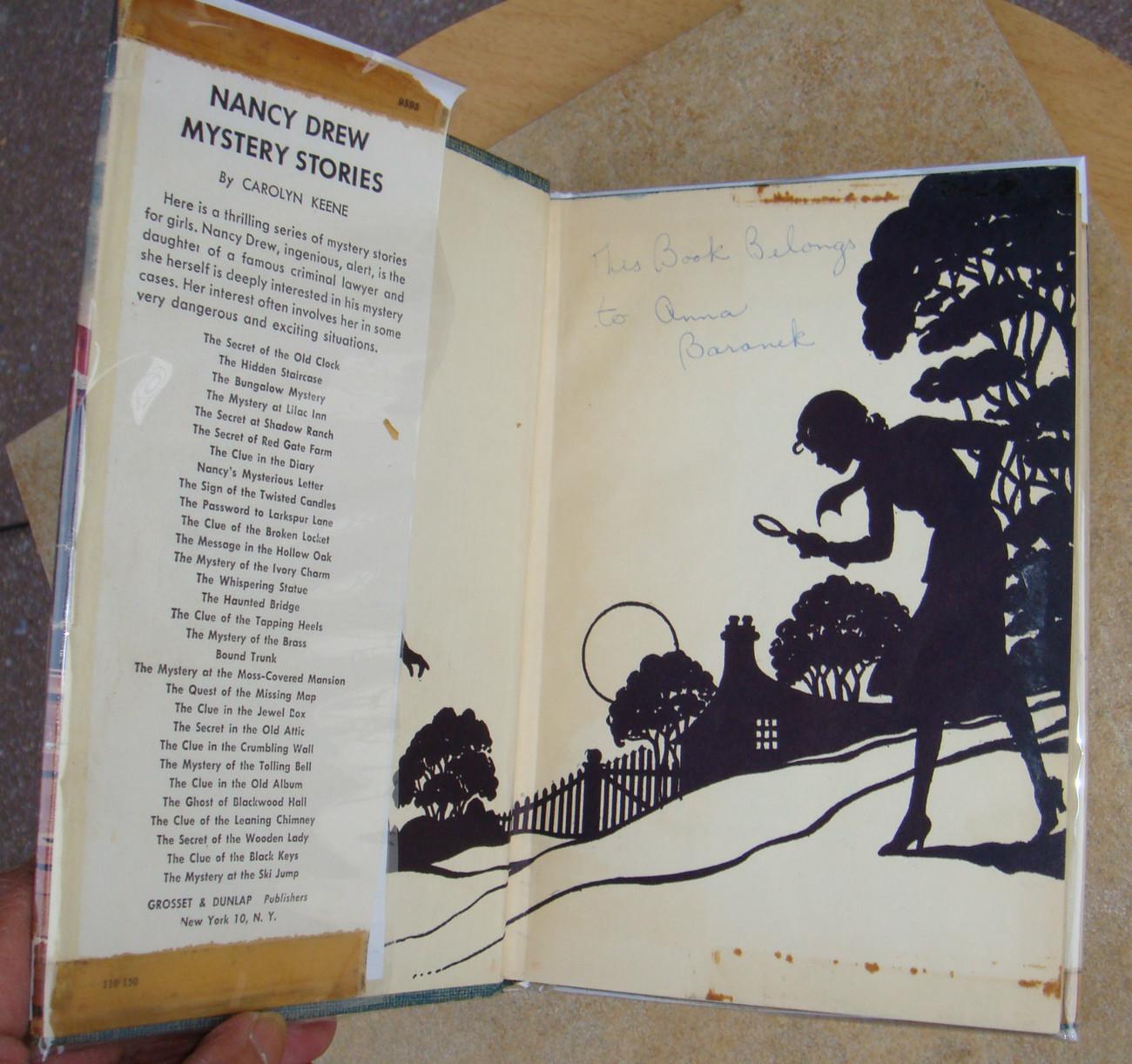 Nancy Drew 11 The Clue of the Broken Locket 1952A-38 hcdj Carolyn Keene