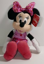 """Just Play Disney Minnie Mouse Pink Red Hearts 9"""" Plush Stuffed Animal w/... - $9.49"""