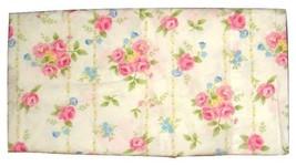 Pottery Barn Kids 1 Standard Floral Stripe Pillowcase Pink Blue on White... - $14.82