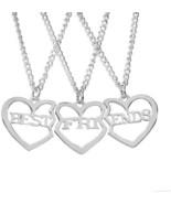 Best Friends Forever BFF Friendship Heart Shape Matching Pendant Neckla... - $27.55