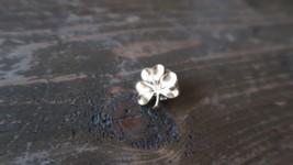 Vintage Gold Tone Shamrock Lapel Pin 1.7cm - $7.91