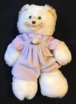 "Vintage 1998 Fisher Price Berry Beth White Teddy Bear 9"" Stuffed Plush Toy - $14.84"
