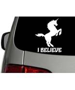 Unicorn I Believe Vinyl Decal Car Wall Window Sticker CHOOSE SIZE COLOR - $1.90+