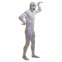 2nd SKIN MUMMY FULL-BODY STRETCH JUMPSUIT ADULT HALLOWEEN COSTUME SIZE X... - $36.35