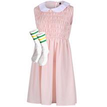 Eleven dress and socks stranger things cosplay costume fancy dress - $39.00