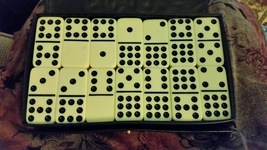 Double Nine Dominoes in vinyl travel case - $35.00