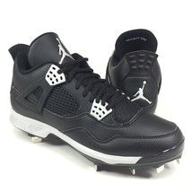 Nike Air Jordan Retro IV 4 Baseball Cleats Metal Spikes Black Gray 80771... - $64.99