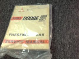 1963 Dodge Custom Eight Eighty 88 Service Shop Repair Workshop Manual OEM - $15.94