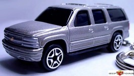 KEY CHAIN SILVER PEWTER CHEVROLET SUBURBAN CHEVY SUV 4X4 NEW CUSTOM LTD ... - $38.98