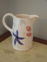 Vintage WORLD MARKET UNUSED  PINK/PURPLE FLORAL PITCHER - $45.53