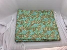 Vintage Green Aqua Floral Polyster Knit Fabric 26508 - $44.54