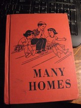 Many Homes 1950 Book - Vintage Rand McNally Social Studies Series Hugley Cordier - $19.79