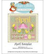 April Monthly Sampler 2017 series cross stitch ... - $10.00