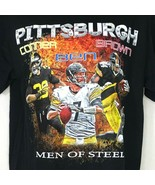 Gildan Pittsburgh Men of Steel Conner Ben Brown Football T-shirt  Men Si... - $14.84