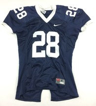 New Nike Custom Defender Football Jersey #28 Youth Medium Navy White 667... - $12.37