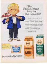 1960 Foremost Cottage Cheese & Milk adorable boy artwork Print Ad - $9.99