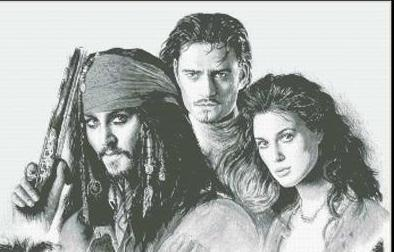 Pirates of the Caribbean movie cross stitch chart Mystic Stitch