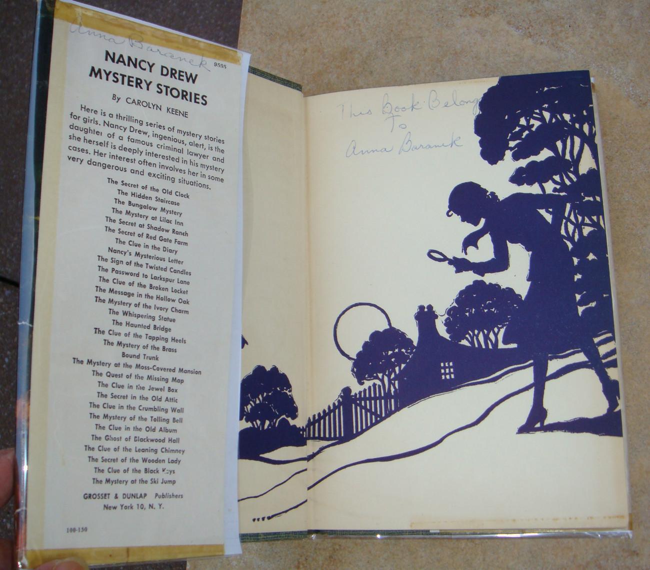 Nancy Drew 1 The Secret of the Old Clock 1952B-62 hcdj Carolyn Keene