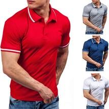 Men Korean Style Navy Cotton Short Sleeves Polo Shirt (M/L/XL/XXL) - $36.72