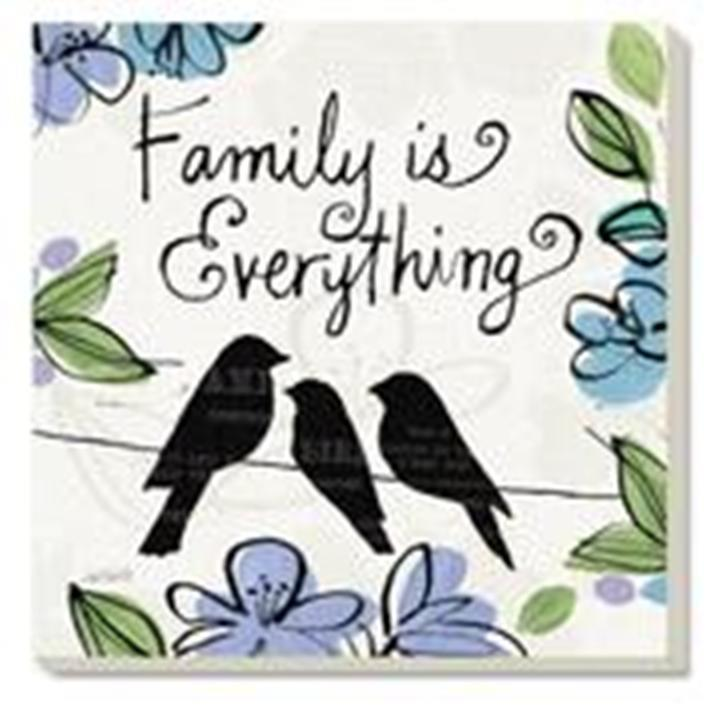 """CounterArt Absorbent Coaster Set (4) Everything Grows - 4"""" square Family - $13.95"""