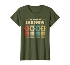 Funny Shirts - Retro The Birth Of Legend 1992 26th Birthday Gift 26 yrs old Wowe image 2