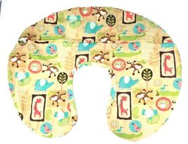 The Original Boppy Support Pillow Cottony Cute Slipcover Baby Jungle Animals image 4