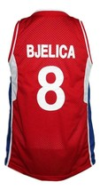 Nemanja Bjelica #8 Serbia Custom Basketball Jersey New Sewn Red Any Size image 2