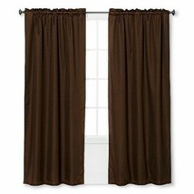 "Braxton Thermaback Light Blocking Curtain Panel Brown (42""x63"") - Eclipse - $9.49"