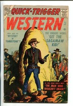 QUICK-TRIGGER WESTERN #18-1957-ATLAS-JOE MANEELY-MATT BAKER-SINNOTT-vg - $44.14
