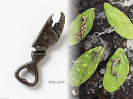 Anthropologie Crab Claw Bottle Opener Brass Nautical Ocean Insp Father H... - £19.76 GBP