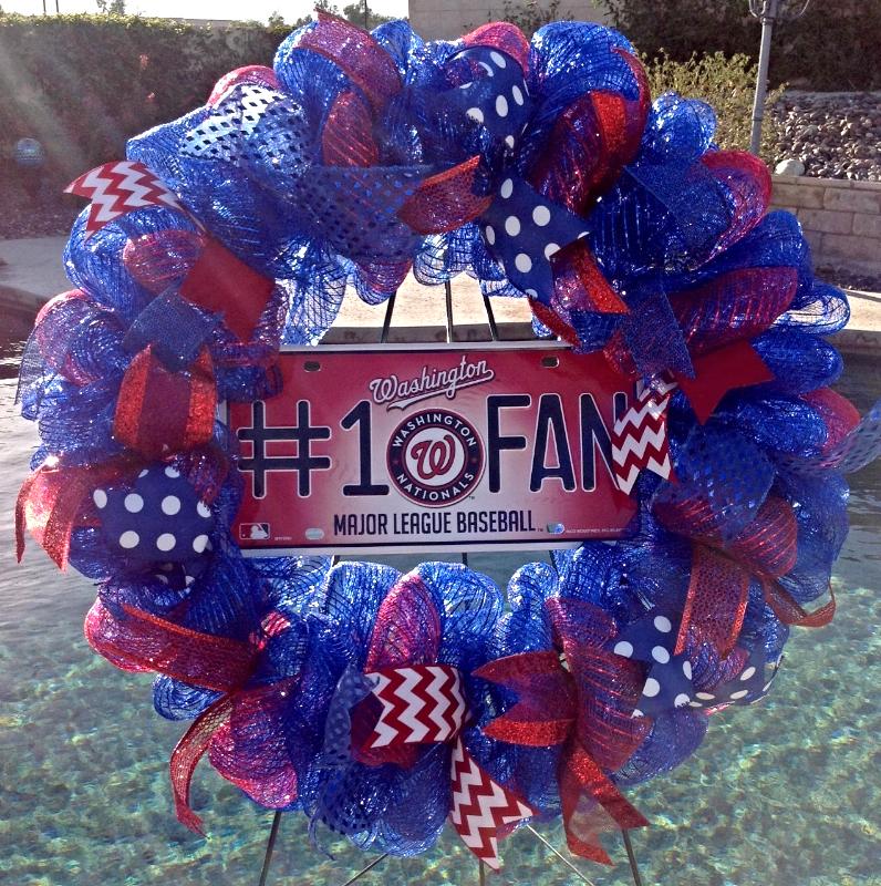 Chicago Cubs Baseball Wreath Handmade Deco Mesh