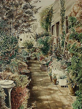 "Susan Sahall ""Terrace Garden"" - S/N Serigraph - Retail $1.8K - COA - See... - $400.00"