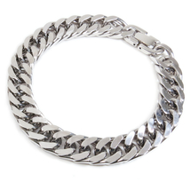 "Stainless Steel Polish Double Curb Chain Men Bracelet 11mm 8.25"" - $15.99"