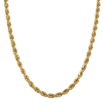 "Stainless Steel Gold Color Rope Chain Men Necklace 6mm 22"" - $17.00"