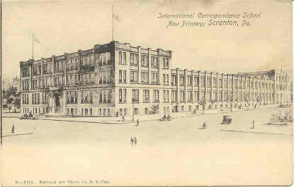 Correspondence School Scranton Pennsylvania 1906 Vintage Post Card