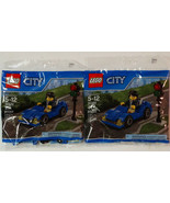 New! Lot of 2 LEGO City Blue Car 30349 Building Toy 47 pieces w/ Coupon - $9.89